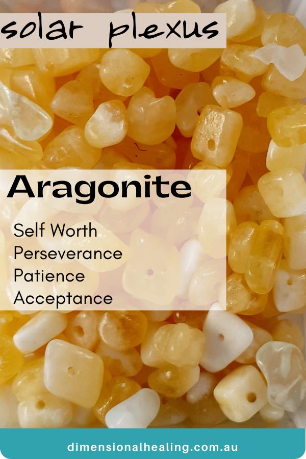 bowl of Aragonite gemchips Solar Plexus Chakra Stone