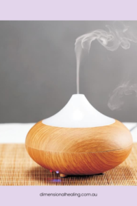 diffuser with essential oils for balancing chakras