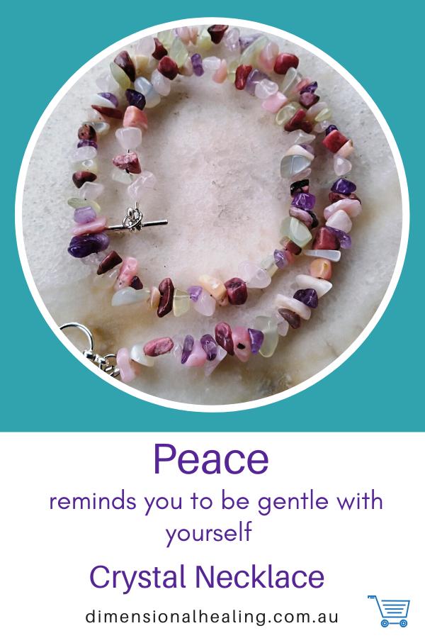 Crystal Necklace, amethyst, rose quartz