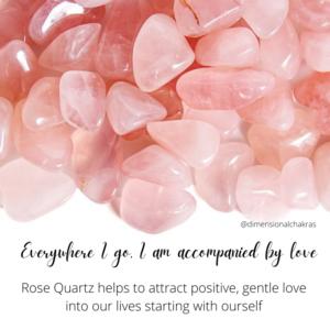 rose quartz affirmation for self care