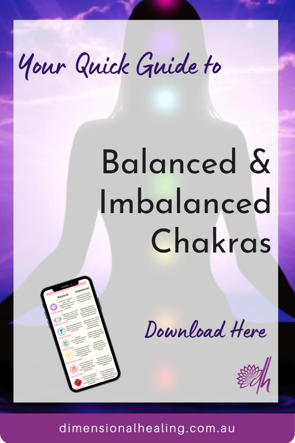 balanced and imbalanced chakra guide