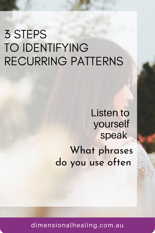 Listen to yourself for recurring patterns of self talk