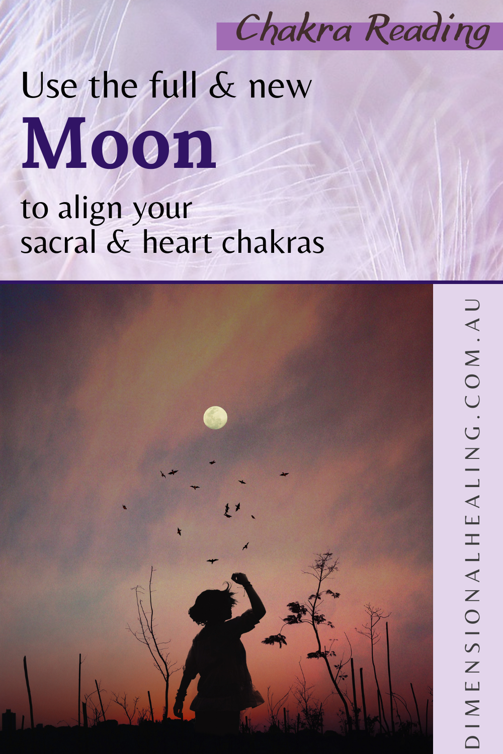 looking at the full moon for a lunar chakra reading