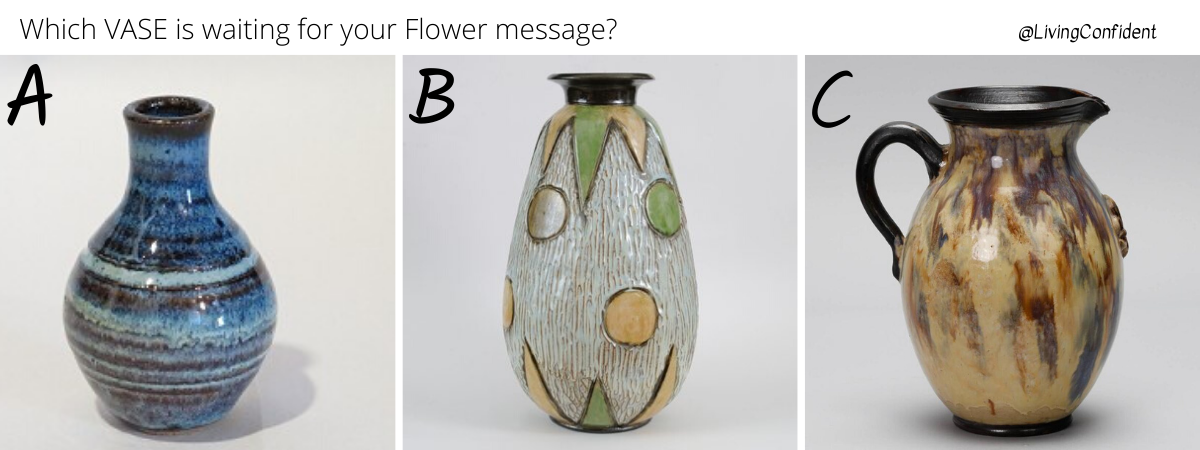 Here is Your Flower Therapy Oracle Message Vase